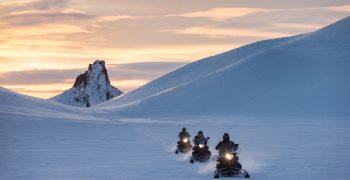 Langjokull snowmobiling
