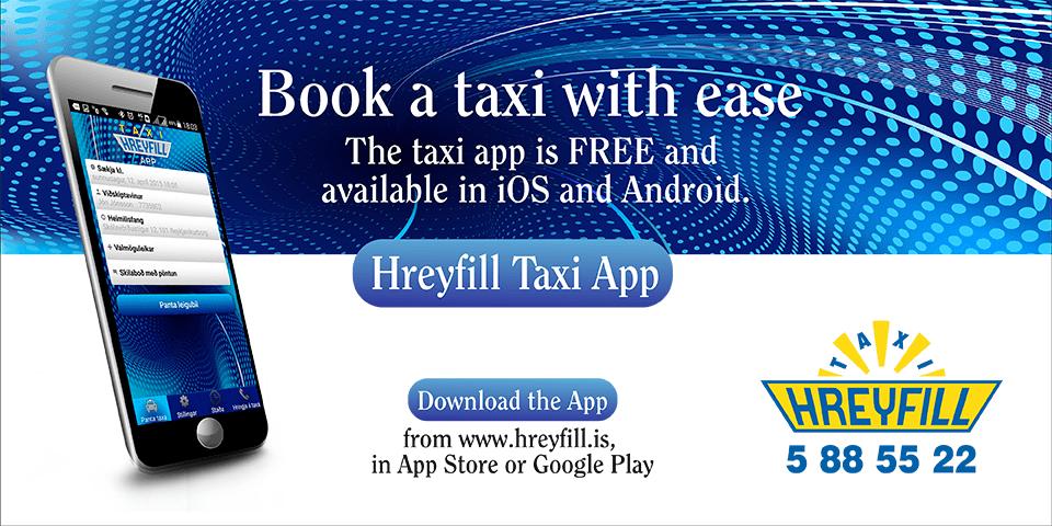 Hreyfill Taxi Reykjavik Iceland